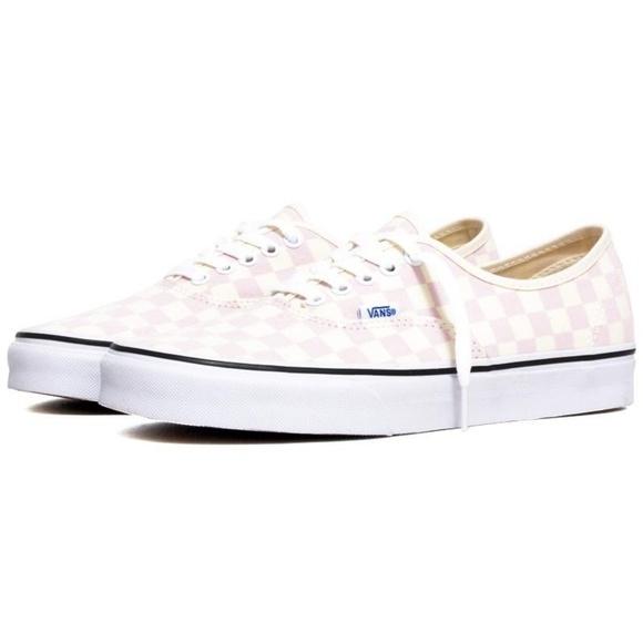5495272a72d Vans Shoes - Vans Checkerboard Sneakers Chalk Pink